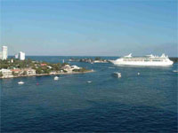 Tips for arriving to Ft. Lauderdale by boat: the entrance to Port Everglades is wide and large enough for huge cruise ships.
